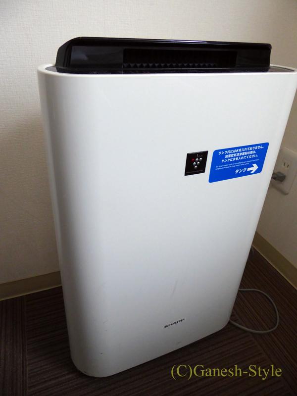 JR奈良駅前にあるコンフォートホテル奈良の客室の空気清浄機