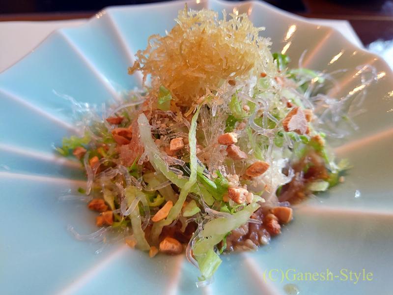 梅の花越谷レイクタウン店で出た豆腐サラダ