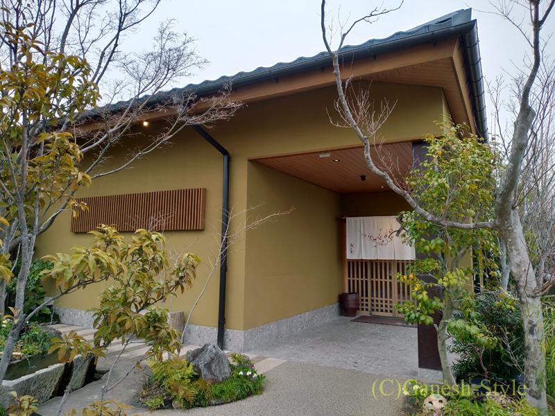 湯葉豆腐料理レストランの梅の花越谷レイクタウン店の入口