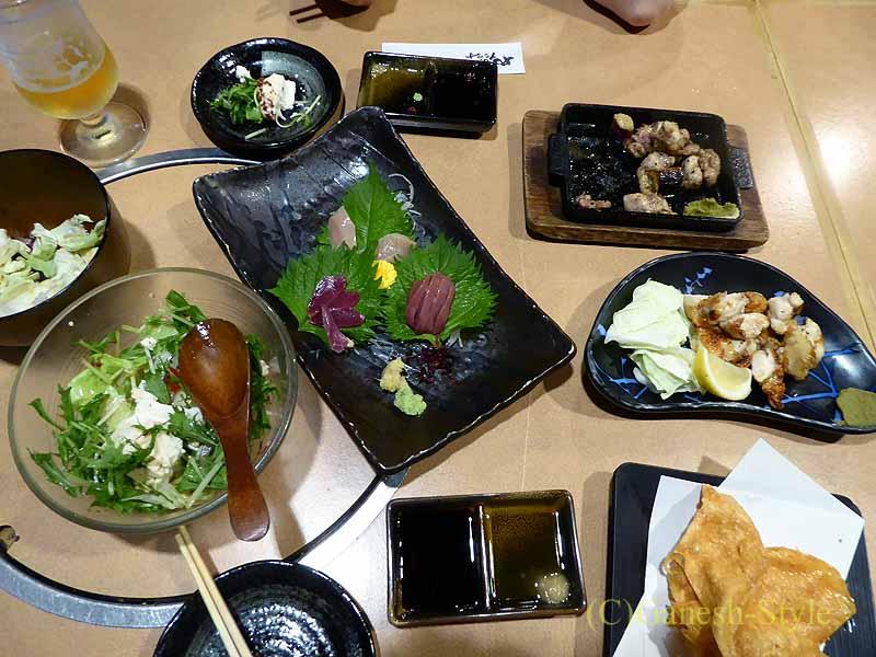 奈良にある大和肉鶏を堪能できる居酒屋やたがらすの料理