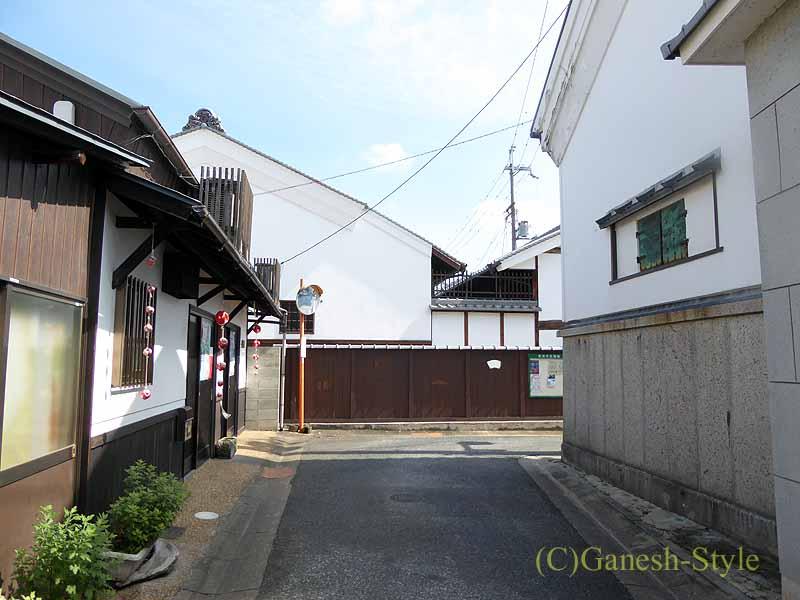 奈良市内の歴史ある古い町屋が並ぶならまち