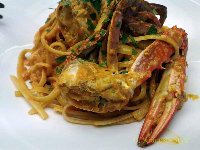 西麻布のイタリア料理レストラン、エンゾパステリアで出たパスタ