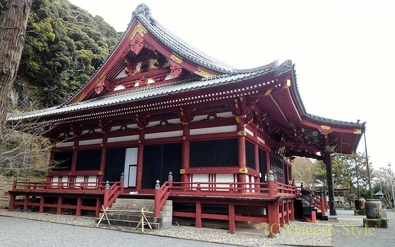 千葉県館山市にある西暦717年創建の名刹、那古寺