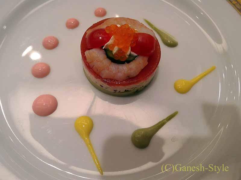 ホテルニューオータニ幕張で出たフランス料理コースの前菜