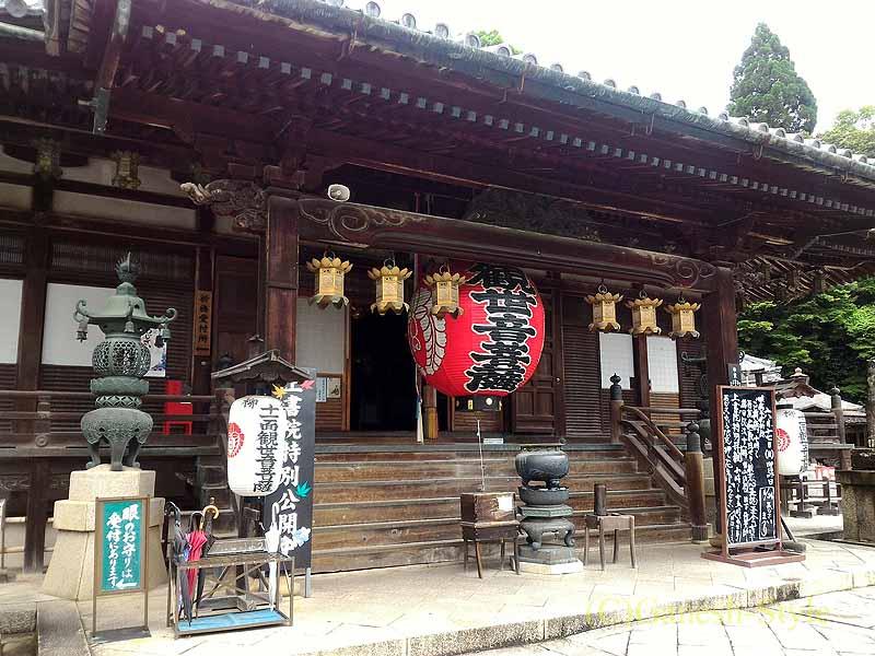 長岡京市にある名刹、柳谷観音(楊谷寺)の本堂概観