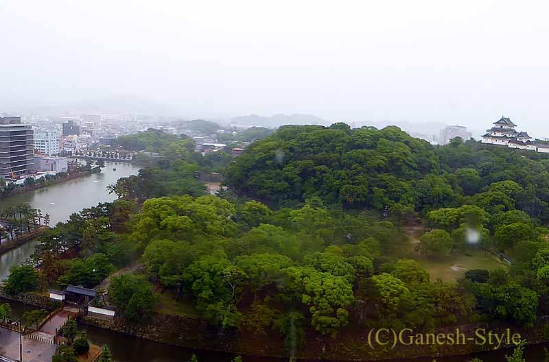 ダイワロイネットホテル和歌山の客室からの眺め