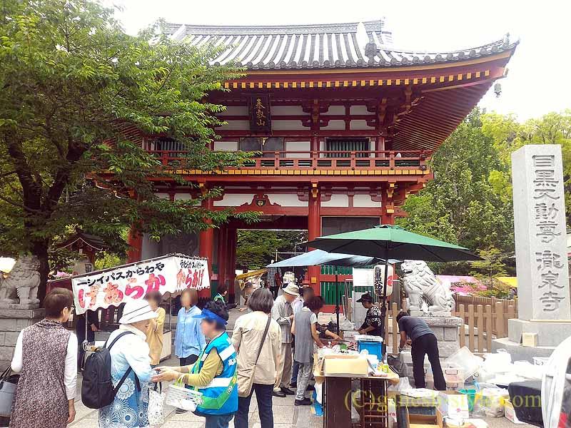 東京目黒にある病気平癒に霊験あらたかな目黒不動尊の仁王門