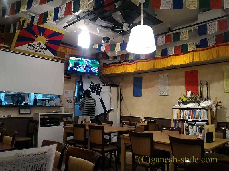 東京でも珍しいチベット料理レストラン、タシデレの店内