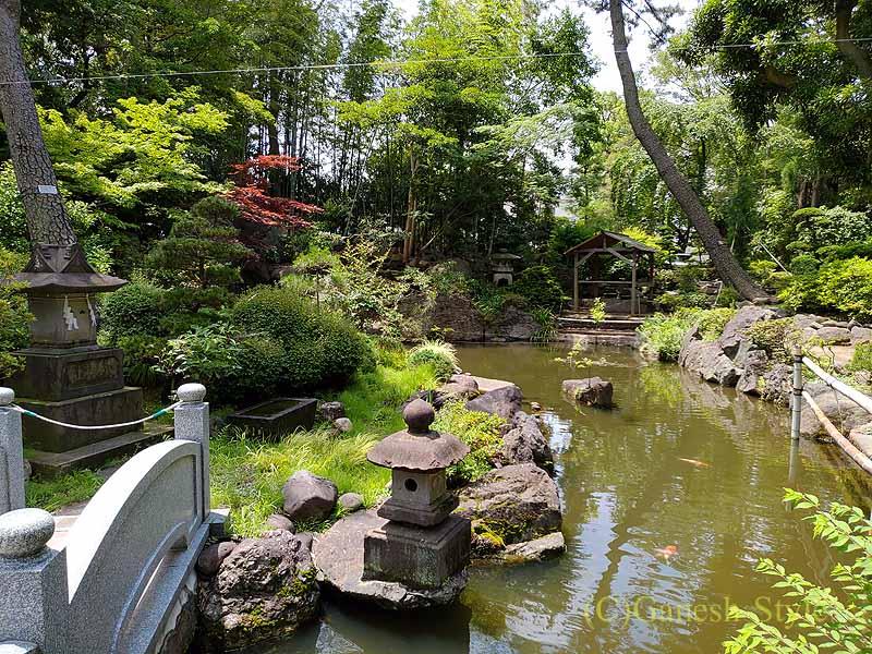 東京足立区にある酉の市発祥の地、大鷲神社の池