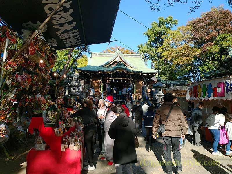 東京足立区にある酉の市発祥の地として有名な大鷲神社