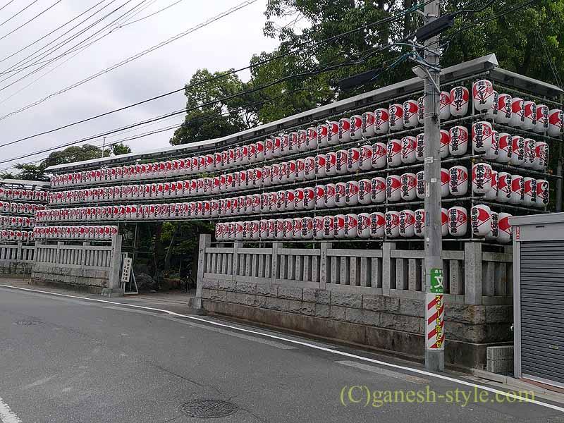 東京足立区にある酉の市発祥の地、大鷲神社の提灯