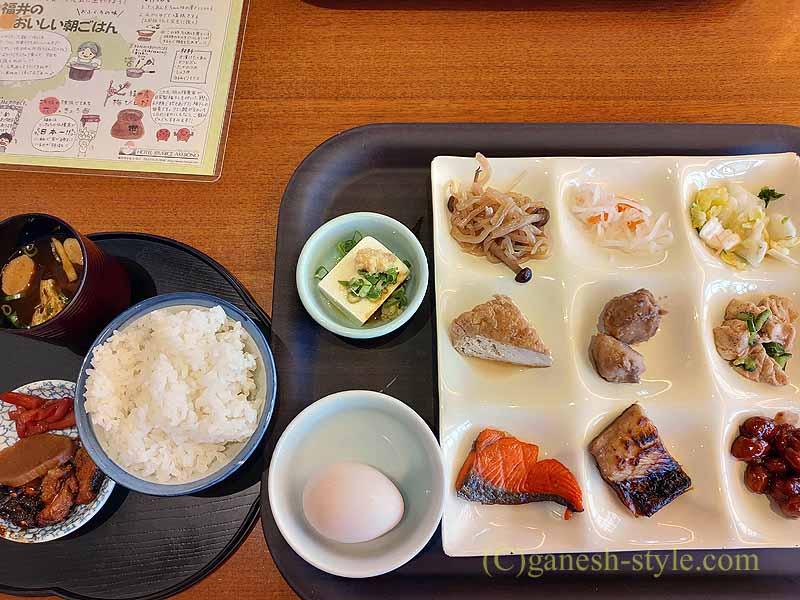 福井市にあるホテルリバージュアケボノの朝食